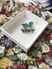 les nereides Blue Flower Earrings