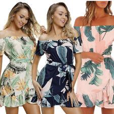 Vestito corto da sera mini abito elegante donna floreale sera estivo DS220314