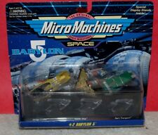 Galoob 1994 Micro Machines Space Babylon 5 set #2 3 Ships Factory Sealed on card