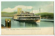 Day Boat SS ALBANY at West Point Landing, NY 1901 - 1907 Paddle Wheel Postcard