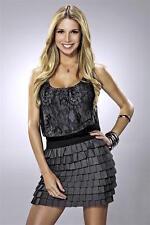 ALESSANDRA-VILLEGAS Telemundo TV show co-host gray dress color 7x10 portrait