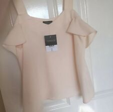 Topshop White Cream Cold Shoulder Cut Out Top 8