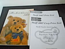Steiff 2007 Catalog German Stuffed Animals & Bears w/Price Lists