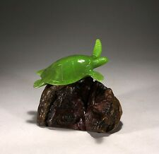 "SEA TURTLE ""JADE"" Figurine New direct from JOHN PERRY 6in tall Art Sculpture"