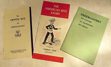 Set of Three Booklets/Publications on Freemasonry from The 1960's