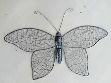 Metal Wire Butterfly Wall Art Decor Home/Conservatory Fence 36cm