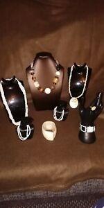 Summer Costume Jewellery Job Lot, mop, seed pearls and shells wood & howliite