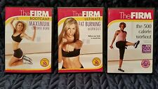 USED dvd lot The FIRM 500 calorie workout fat burning  maximum calorie burn
