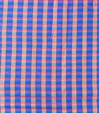 Brushed Cotton Check Sewing Fabric Blue Blue Shirting Weight Craft