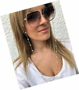 Sither Pearl Sunglasses Chian Reading Glasses Chain Strap Necklace for Women