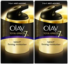 Olay Total Effects Crema Reafirmante Crema Hidratante Noche 7in1 (2 X 50ml)