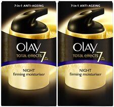 Olay Total Effects 7in1 Night Firming Moisturiser Cream (2 x 50ml)