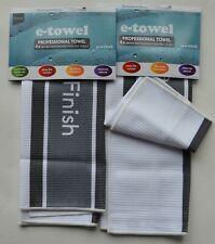 2 x e cloth professional tea towel grey