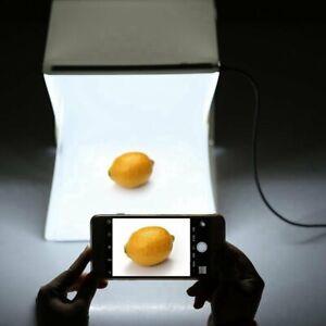 Foto Lichtzelt Fotostudio Fotobox Fotozelt Faltbare mit LED 2 Hintergründe