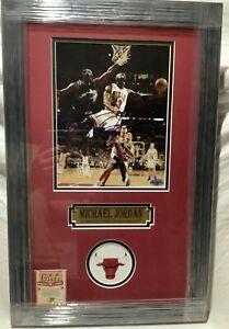 Michael Jordan Framed Auto Signed 8x10 Photo Chicago Bulls NBA COA