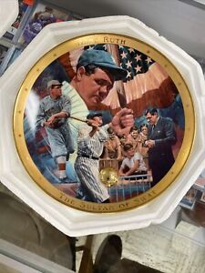 """The Legendary Babe Ruth """"The Sultan of Swat""""  Plate Limited Ed Royal Doulton~New"""
