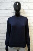 Maglione FAY Donna Taglia M Pullover Cardigan Sweater Woman Blu Lana Vergine