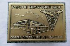 superbe médaille bronze Cercle des Nageurs de Marseille piscine olympique 1968