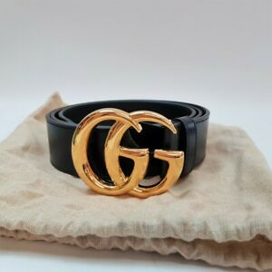 Gucci GG Marmont Leather Belt Shiny Buckle 406831 + Box / Dust Bag RRP $680 #556