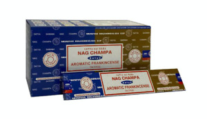 Satya Aromatic Frankincense Nag Champa Incense Stick available in 3 or 12 Pack
