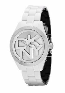 DKNY NY 8754 White and Silver Plastic Stainless Steel Caseback BNWT XMAS SALE