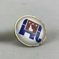 Idaho Republican Elephant Lapel Pin Political Affiliate Vintage