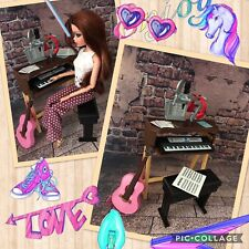 BARBIE,DOLL,,PIANO/KEYBOARD STAND & BENCH,barbie furniture,NEW.MATTEL