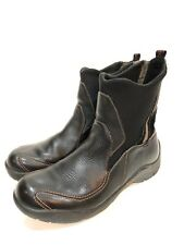 Dunham Women's Pull On Leather Stretch Casual Ankle Boots Size 7 B