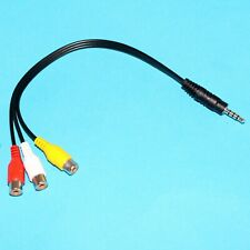 Adapter 3.5mm to 3 RCA Female Component Video Cable Connector for LED TV