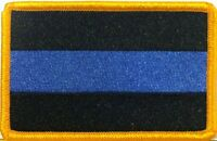 Thin Blue Line Patch Law Police Enforcement  Embroidered Iron-On Patch  Border