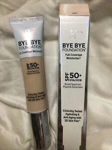 It Cosmetics Bye Bye Foundation Full Coverage Moisturizer 1 Oz Medium Exp.03/23