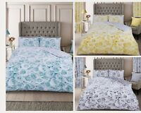 New Floral Luxury Duvet Quilt Cover Sets Fully Reversible Bedding Sets