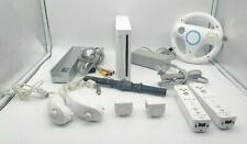 Nintendo Wii White Console RVL-001 Game Cube Compatible Bundle Accessories