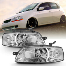 NEW 2004-2007 Chevy Aveo 06-08 Aveo5 Hatchback Headlights Headlamps Left+Right