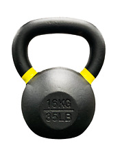 Strencor EKG Kettlebell Black Cast Iron Color-Coded - 16 kg (35 lbs)