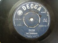 "THE TORNADOS 45 F 11494  BLUE RARE SINGLE 7"" 45 RPM INDIA INDIAN VG+"