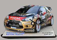 VOITURE RALLYE MINIATURE, LOEB, RALLYE D'ALSACE WRC 2013-02 en horloge miniature