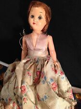 "7"" Hard Plastic DOLL HOUSE DOLL WITH ORIG. CLOTHING AND CHEMISE"