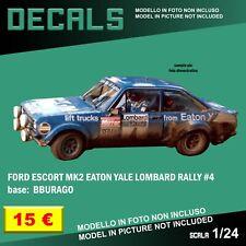 DECALS repro Ford Escort mk2 Eaton Yale Lombard Rally 1 24 Bburago Esci decal