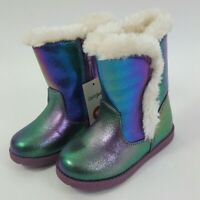 NEW Cat & Jack Toddler Girls Katrina Faux Shearling Boots Purple Size 7, 9, 10