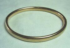 """VICTORIAN 14K Gold Snap Bangle Bracelet 9.4 grams  1/4"""" wide"""