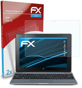 atFoliX 2x Displayschutzfolie für Acer One 10 Schutzfolie klar Folie