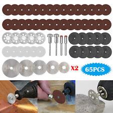 65Pcs Cutting Wheel Set for Mini Drill Dremel Rotary Tool Accessories w/ Mandrel
