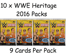 10 x Topps WWE Heritage 2016 Trading Card Packs.  9 cards per pack packets