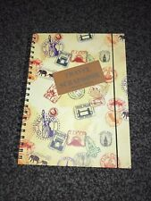 Travel Scrapbook Paperchase Stamps Passport Style Ringbinder Blank Pages A4