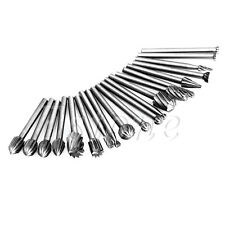 New 20pcs HSS Routing Wood Rotary Milling File Cutter Woodworking Carved Tools