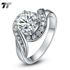 Luxury TT RHODIUM 925 1.25 Carat Sterling Silver Engagement Wedding Ring (RW14)