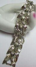 Vintage LISNER Silver Tone Textured Leaves Bracelet