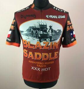 Pearl Izumi Blazin' Saddle Hot Sauce Buda Texas Cycling Jersey Men's Size S