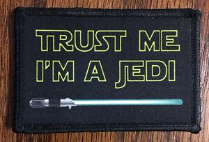 Star Wars Trust Me I'm A Jedi Morale Tactical ARMY Hook Military USA Jedi Master